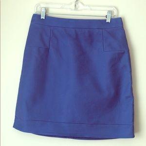 J Crew blue skirt. Size 8